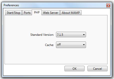 PHP Version MAMP