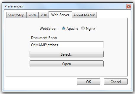WebSever MAMP