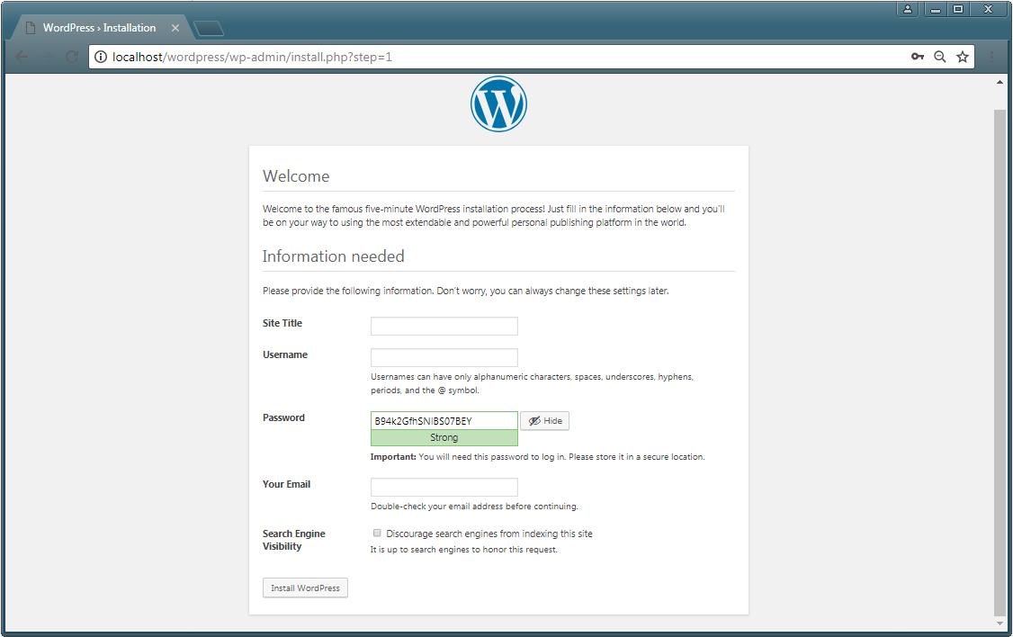 install WordPress 2