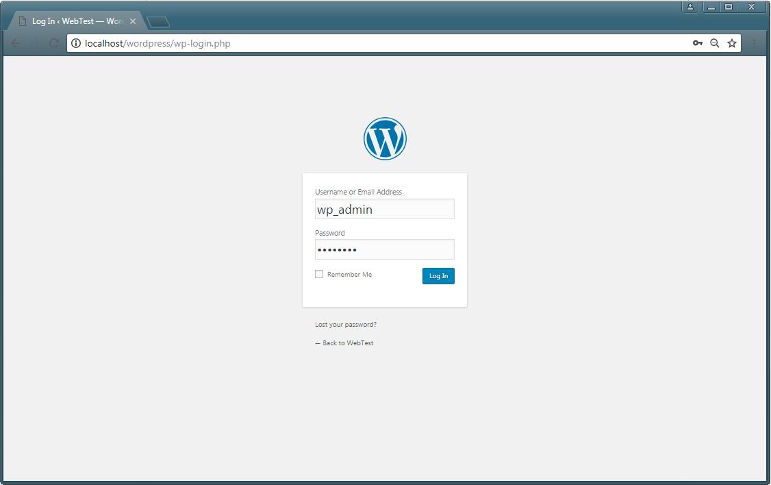 install WordPress 4