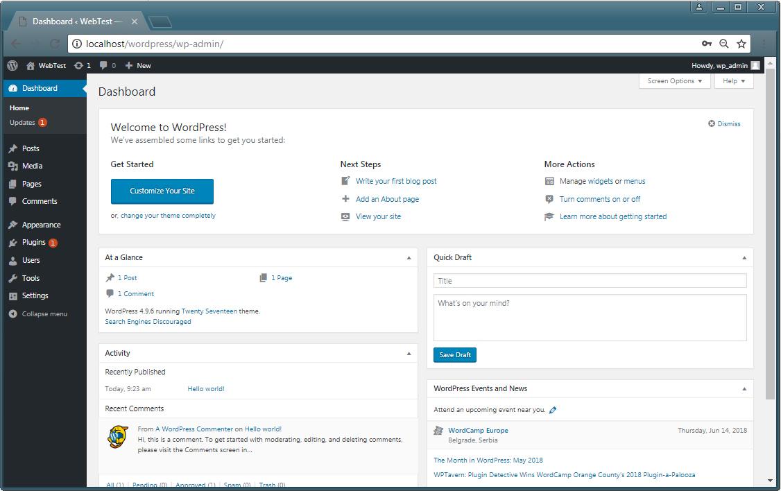 install WordPress final