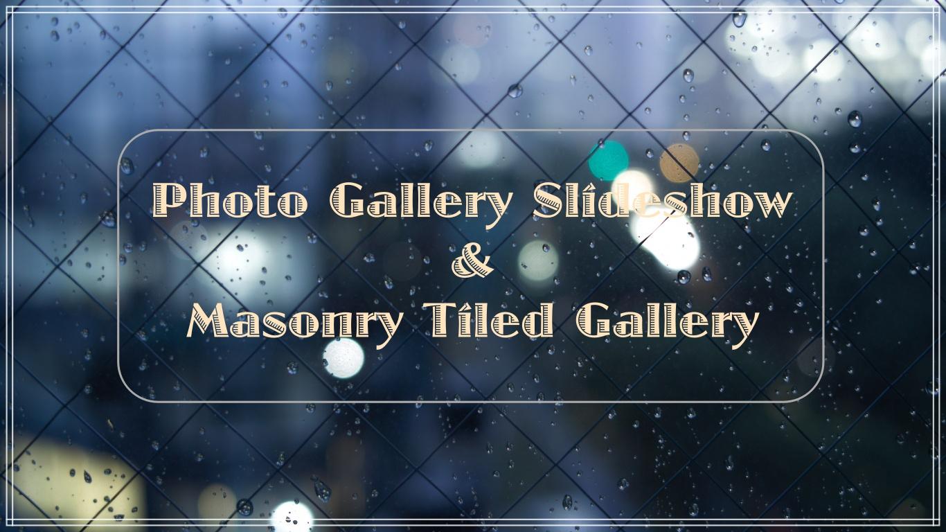 การใช้ Plugin Photo Gallery Slideshow & Masonry Tiled Gallery แบบเบื้องต้น